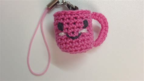 how to make a crocheted charm cup of coffee diy