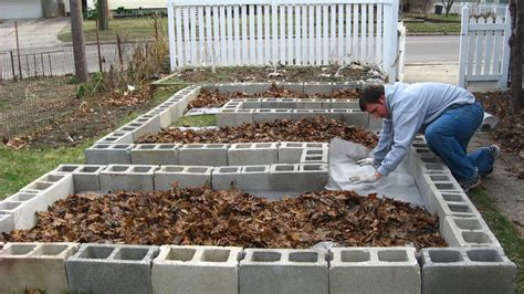 cinder block raised bed happy home build your own concrete block raised beds