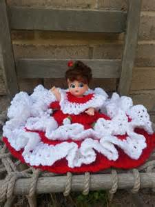 Southern belle princess crochet bed pillow doll vintage 50s or 60s