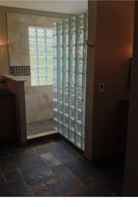 Glass Block Bathroom Ideas Products And Abundant Light Highlight A Westerville Ohio Bathroom Remodeling Project