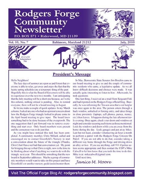 Community Service Newsletter Baltimore Community Newsletter Advertising Community Newsletter Printing Services Baltimore