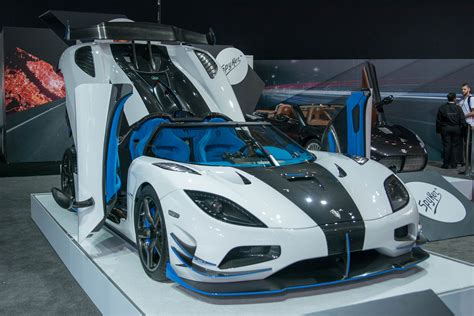 blue koenigsegg agera r koenigsegg s one off 1 360 hp agera rs1 invades new york