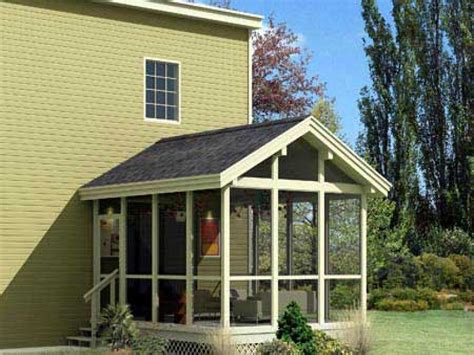 Cottage Floor Plans With Screened Porch | floor plans with screened porches