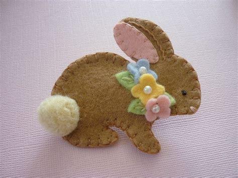 pattern for felt rabbit felt bunny brooch spring beaded flowers felted by