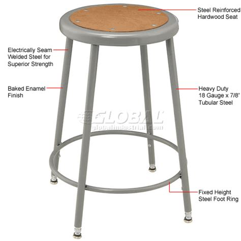 Shop Stool by Stools Steel Wood Shop Stool With Hardboard Seat