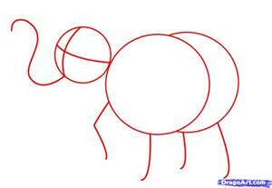 Draw A How To Draw An Easy Elephant Step By Step Safari Animals