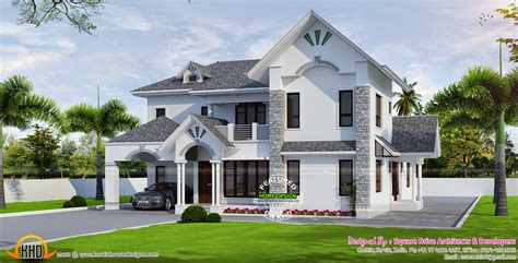 European Style Homes Beautiful European Style Modern House Kerala Home Design And Floor Plans