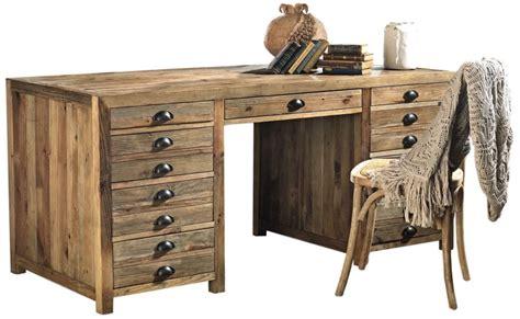 scrivania con cassetti scrittoio con cassetti assenzio in legno vecchio di pino