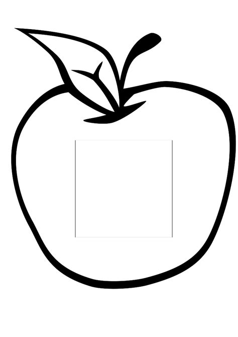 Apple Outline by Apple Drawing Clipart Best