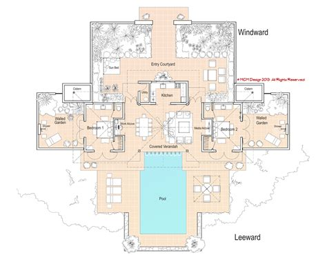 mcm design minimum island house plan