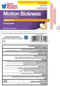 Motion sickness relief by amerisourcebergen drug corporation good