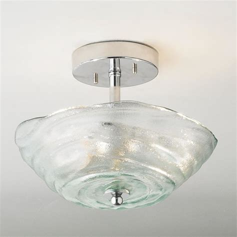 Flush Glass Ceiling Light Rippled Recycled Glass Ceiling Light Flush Mount Ceiling Lighting By Shades Of Light
