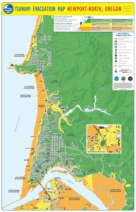map of oregon newport city of newport or emergency information