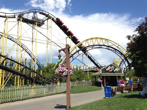 the roller coaster at flambards theme park near helston silverwood theme park in athol idaho picture of