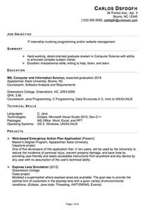 resume examples for internships for students functional resume sample for an it internship susan internship cover letter sample resume genius