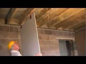 how to hang sheetrock on ceiling by yourself how to fit plasterboard to ceilings the easy way to hang