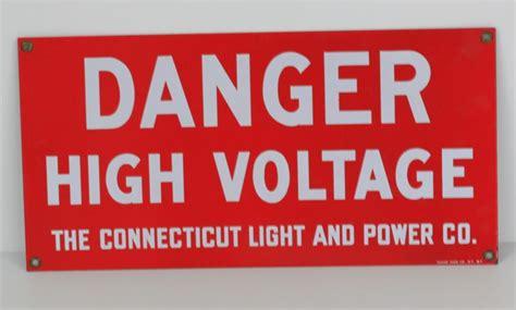 connecticut light and power connecticut light power porcelain sign