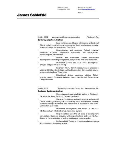 Solution Architect Resume by Sablofski Solution Architect Resume
