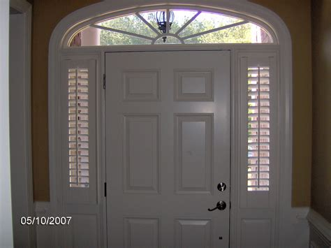 Window Coverings For Front Door Sidelights Shutters Are The Solution For Sidelights Privacy And Sophistication Call Maryland