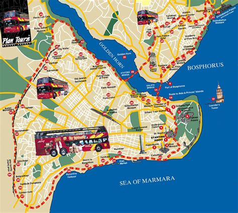 map of istanbul image istanbul tourist map