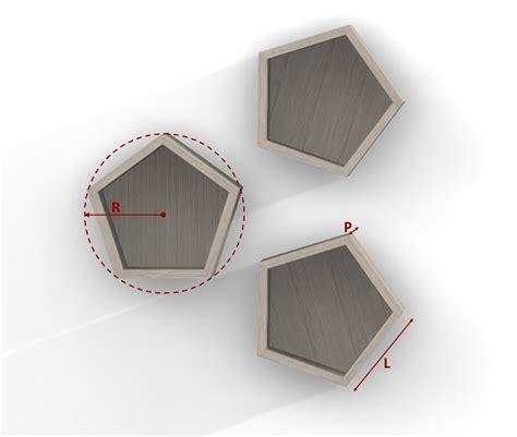 mensole su misura mensola pentagono in melaminico su misura