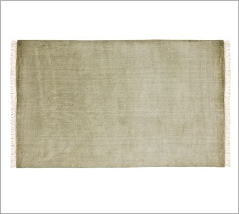 fringed loomed rug mineral green pottery barn
