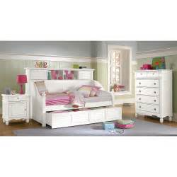 Bookcase Headboard Twin Seaside Twin Bookcase Daybed With Trundle White