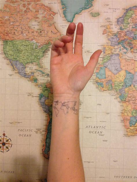 globe tattoo apply 2 world map temporary tattoos smashtat