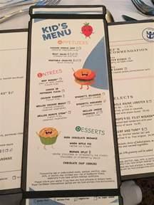 new dining room menu on oasis of the seas