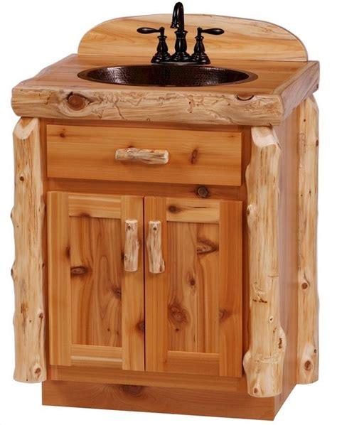 log bathroom vanity cedar log bathroom vanity from the log furniture store