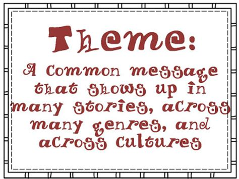 themes definition literature life love literacy list of read alouds through themes