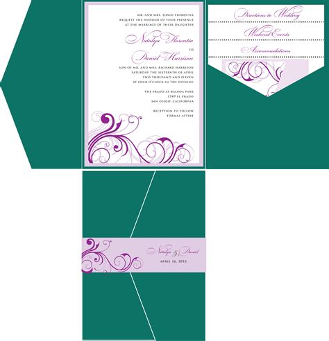 pocketfold wedding invitation template pocket wedding invitation invitation templates