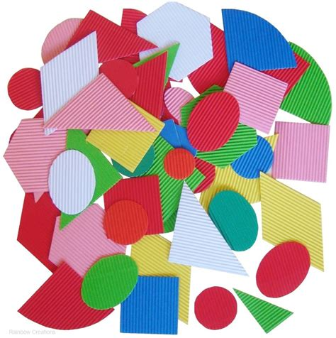 Paper Shapes - geometric corrugated paper shapes paper card precut