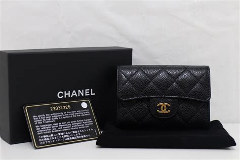 Card Holder Chanel chanel black caviar ghw card holder coin purse wallet