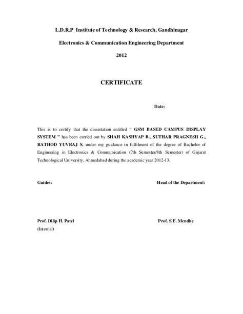 Solvency Certificate Letter To Bank Gsm Based Cus Display System Project Report