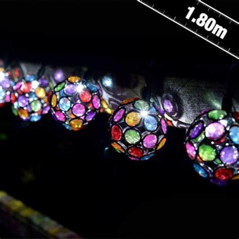 solar multi coloured glow gem string lights