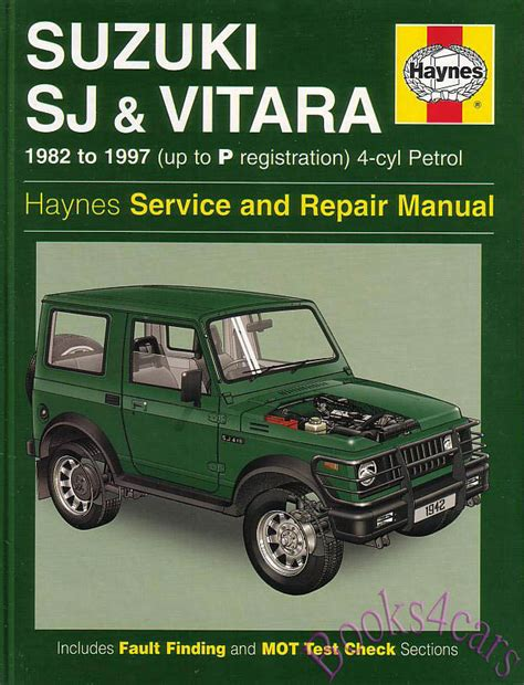 suzuki sj samurai shop manual service repair book sj410 sj413 vitara haynes jeep ebay
