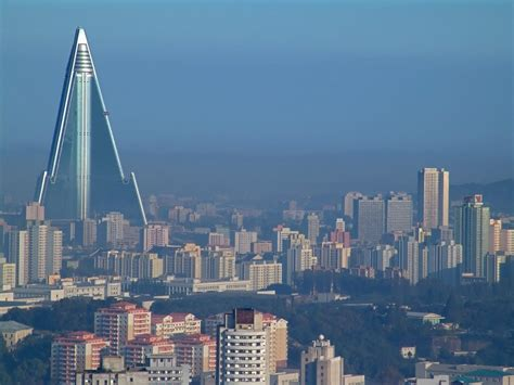 north korea panoramio photo of pyongyang skyline