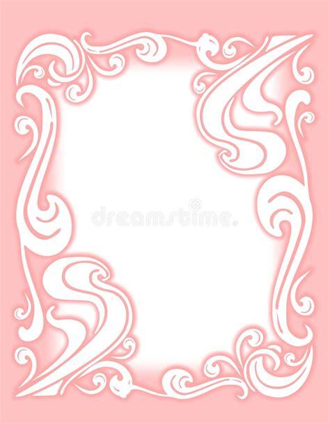 Flourish Frame Outline by Decorative Pink Flourish Border Or Frame Stock Illustration Illustration Of Curls Outlines