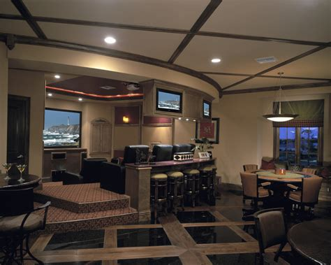 floor club level traditional home theater orlando   evans group