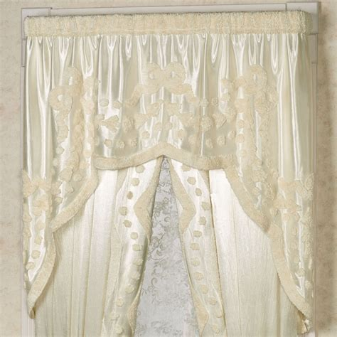 lisette curtains lisette pearl chenille swag valance window treatment