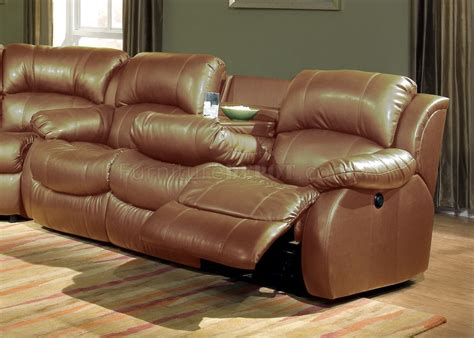 transitional leather sectional transitional brown bonded leather sectional w recliner