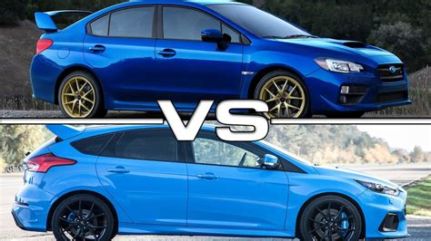 subaru ford subaru wrx sti vs ford focus rs