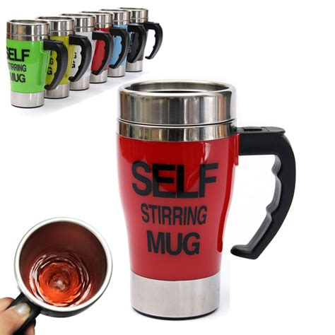 Automatic Self Stirring Mug Steering Coffee Cup Gelas A Terjamin automatic coffee mixing cup self stirring coffee mug alex nld