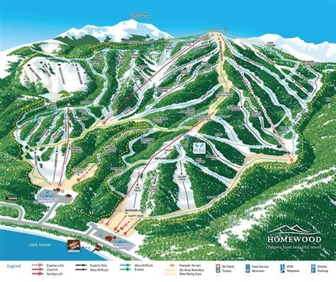 Homewood Mountain Resort Trail Map   OnTheSnow