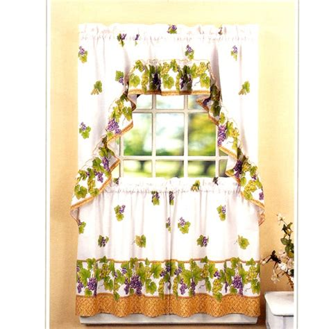 grape vine kitchen curtains grape wine