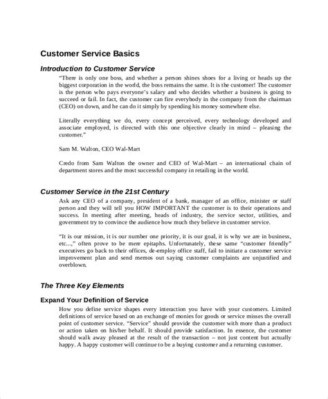 customer service manual template 10 guide templates template section