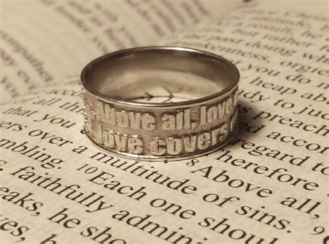Wedding Rings With Bible Verses by Bible Verse Ring 1 4 8 D O Celtic Jewelry