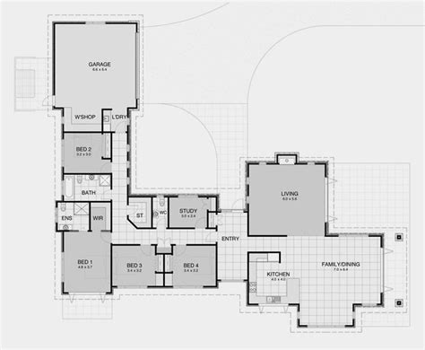 25 best ideas about 4 bedroom house plans on pinterest l shaped 4 bedroom house plans luxury best 25 l shaped
