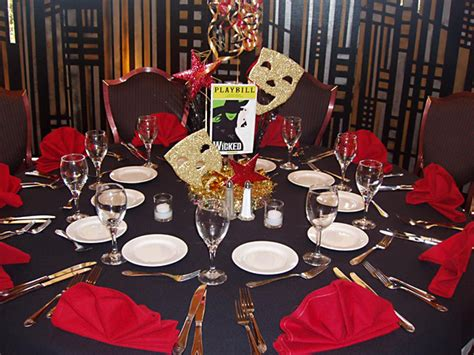broadway themed decorations broadway themed centerpieces cake ideas and designs